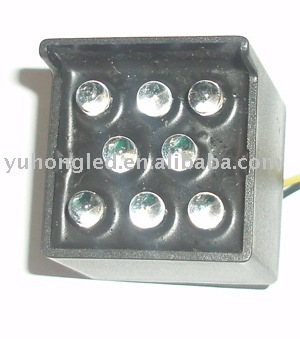 Outdoor LED cluster lamp display, square or round shape, different sizes and colors