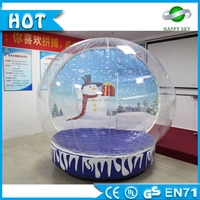 PVC/TPU inflatable snow globe,inflatable advertise show ball,outdoor christmas decorations