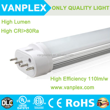 535mm T8 Led Tubes Lights Super Bright 22W 110LM/W 2g11 T8 Led Fluorescent Tube Lamp AC100-277V UL Listed