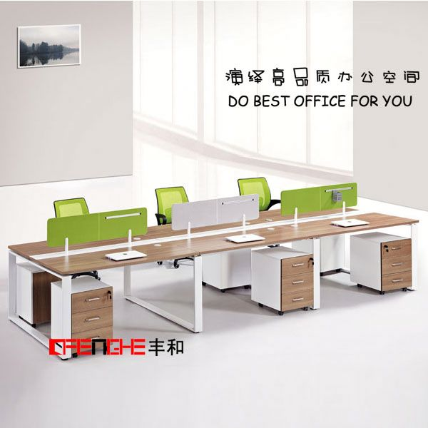 Modern office space saving furniture staff office table design photos