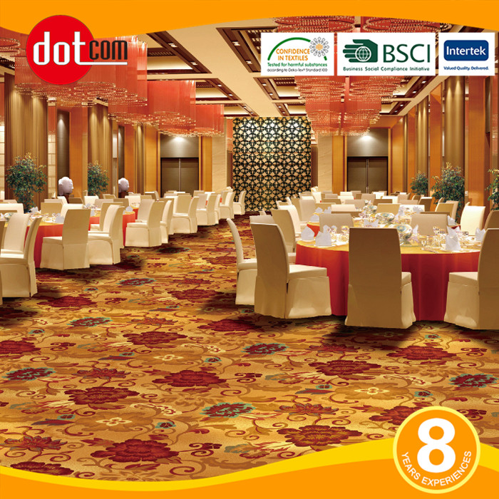 Loop Pile Restaurant Nylon Banquet Hall Carpet For Hotel