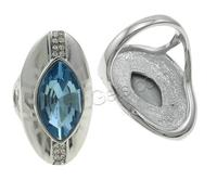 Zinc Alloy Flat Oval Wedding Ring With Cage 842212