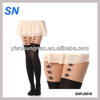 Wholesale fashion tights tattoo star leggings in stock