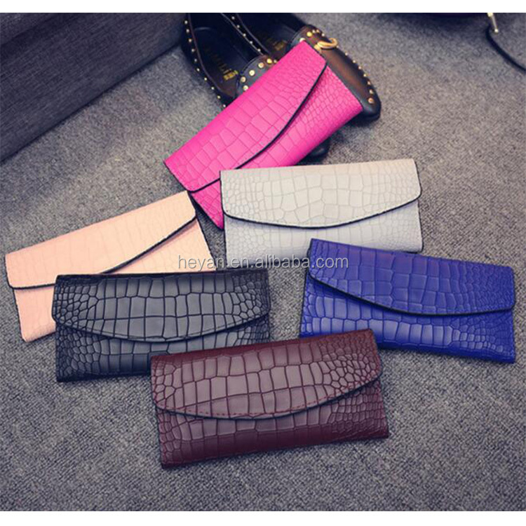 Popular Ladies Fashion Trends Design PU Wallet Purses