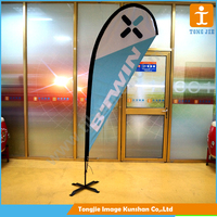 Outdoor teardrop banner promotion flag banner