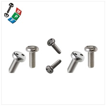 Made in Taiwan Countersunk Head Security Screw Stainless Steel Two Hole Snake Eye Screw
