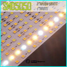 DC12V 24V 17W/M Warm White + White Dual Color SMD5050 LED Rigid Bar Light