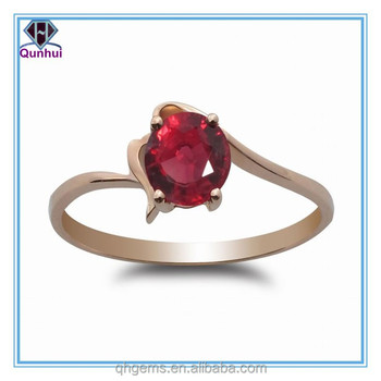 Fashion magnetically Round Shaped Ruby Corundum