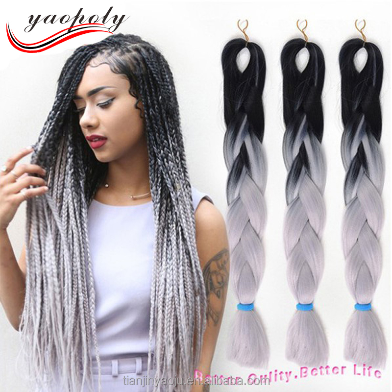 Free sample alibaba express Braiding High Temperature Fiber Jumbo Braiding expression ombre expression synthetic braiding hair