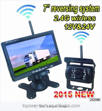 Best selling 2.4G Car reversing aid system +7 inch LGD 2.4G wireless