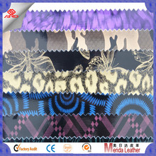 2016 new products waterproof and high gloss camouflage leather material