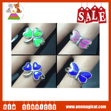 Hot Sales St.Patrick's Day Style Fashion Clover Female Rings