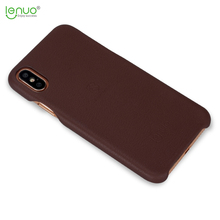 Lenuo ultra thin soft back cover PU leather for iphone X phone case