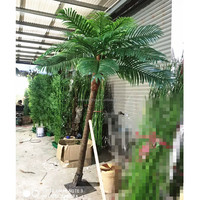 Factory wholesale artificial plants decorative tree Artificial coconut palm tree fiberglass tree