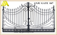ANJU steel Gate-047 cassical best-selling modular iron gate door prices