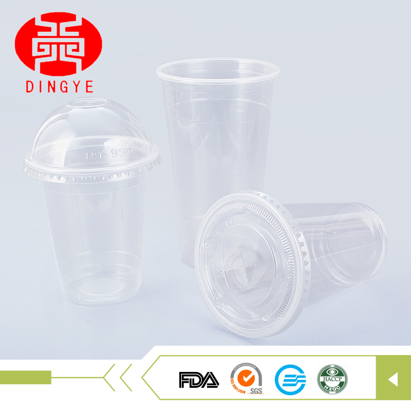 High quality different type disposable plastic coconut cup with lid
