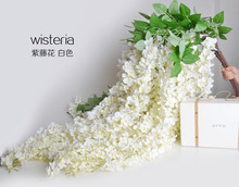 Wholesale Artificial Wisteria Flower Vine Wedding Home Wall Decoration