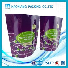 Plastic packing bags for dried fruit/ raisin zipper resealable stand up pouch custom design and printed
