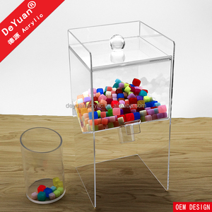 Custom acrylic box for the candy shop/ Acrylic sweet dispenser/ Wholesale candy plastic containers