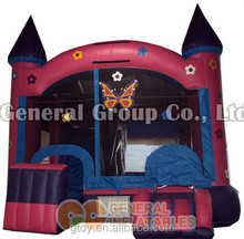 Happy butter fly hop clown commercial inflatable jumping bouncy house/castle