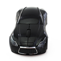 Famous car shaped wireless mouse bule LED mouse light optical gaming mouse