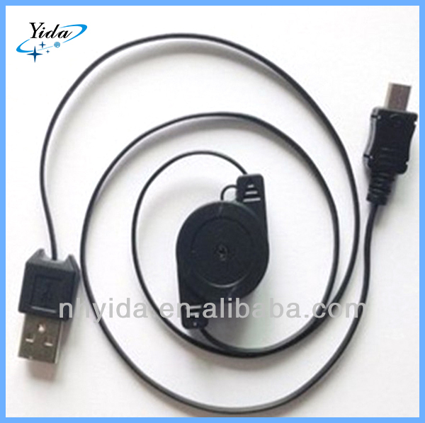 Retractable Micro USB Cable For Samsung Galaxy S4 S3 Mini S2 S II III