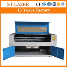 Factory price double head co2 fabric cloth textile laser cutting machine 1200*900mm