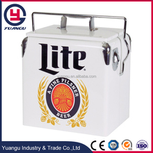 Vintage Metal Ice Chest Disposable Cooler Box for Party