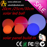 RGB colors changing led glow swimming pool solar garden ball outdoor