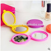 silicone makeup mirror various colors low MOQ silicone cosmetic mirror