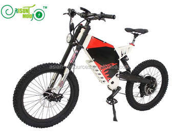 RisunMotor Customized e-Motorcycle Style Super eBike Electric72V 3000W Mountain Bike bicycle,Front and Rear Suspension