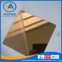 Gold Rose Red Mirror Finished Stainless Steel Sheet