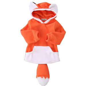 Wholesale Warm Cute Fluffy Fox Shape Baby Coat