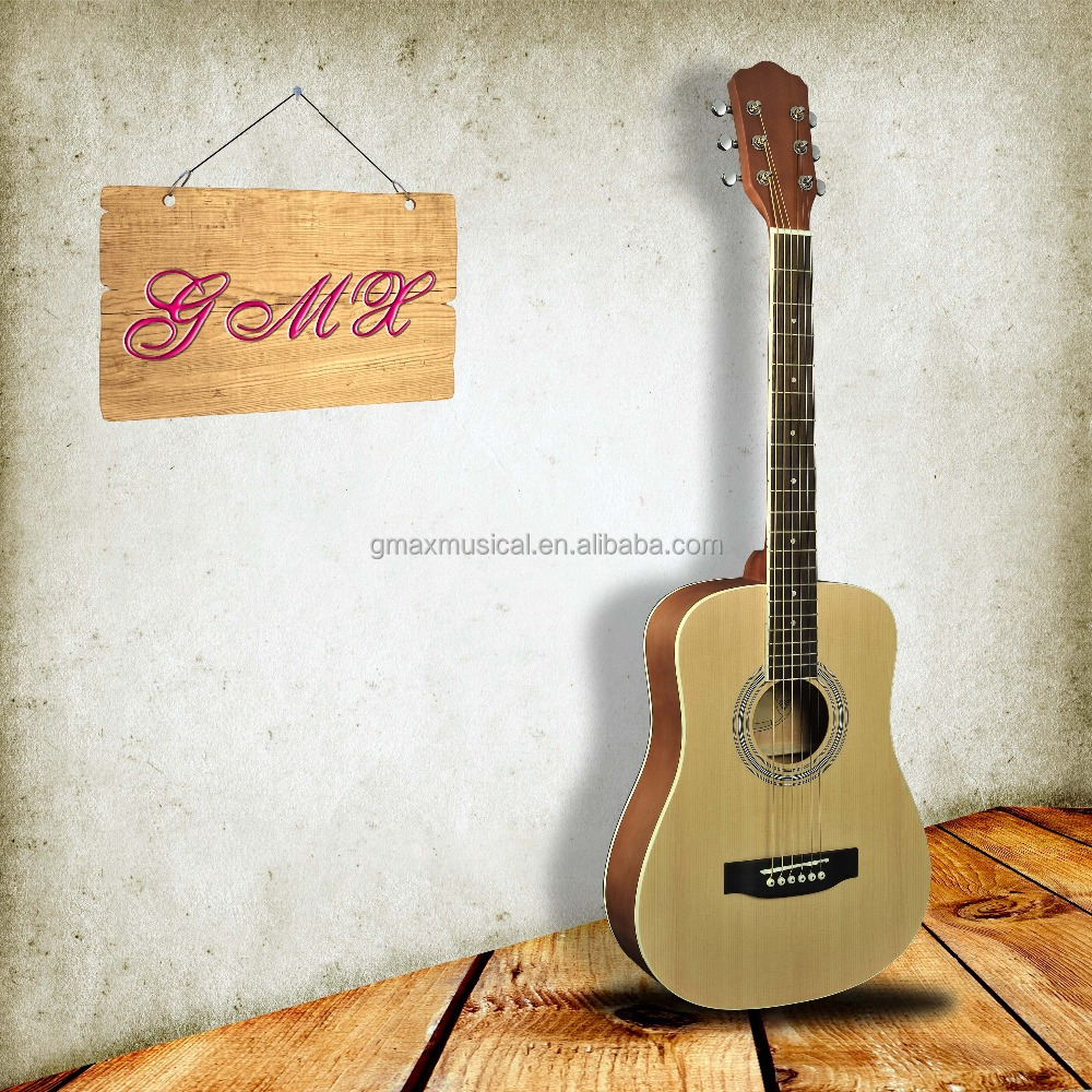 Custom left handed acoustic guitar with exquisite guitar belt