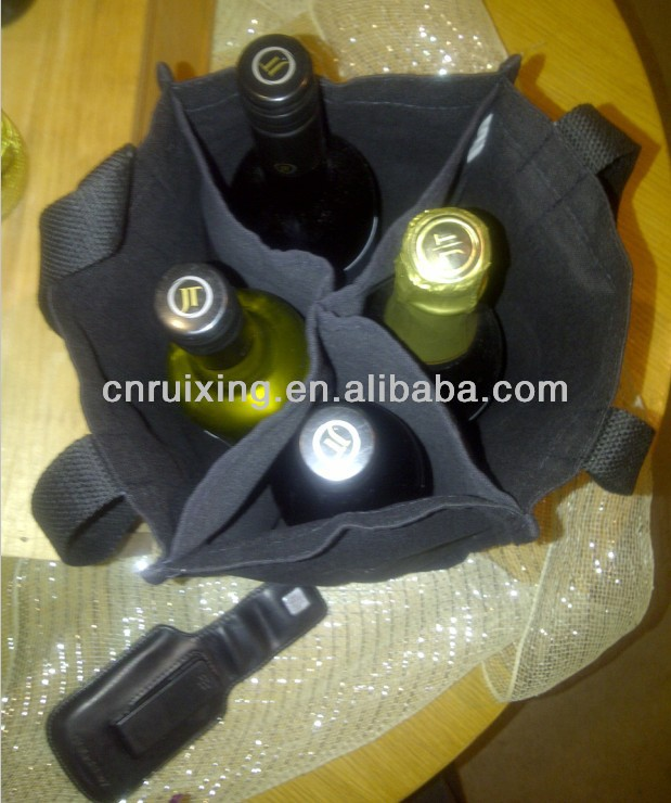 2014 fashion holiday wine bottle gift bags