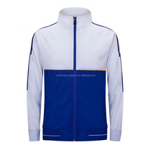 2017 New plain blank blue and white customize soccer jacket