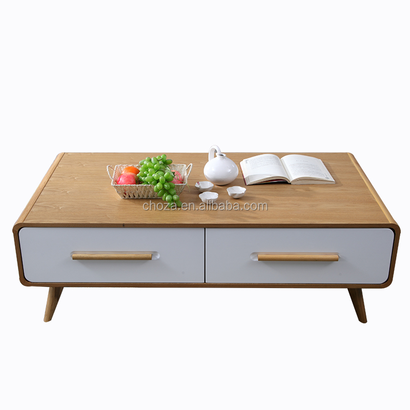 F51041A-1 cheap price scandinavian style white coffee table wooden sofa center table for sale