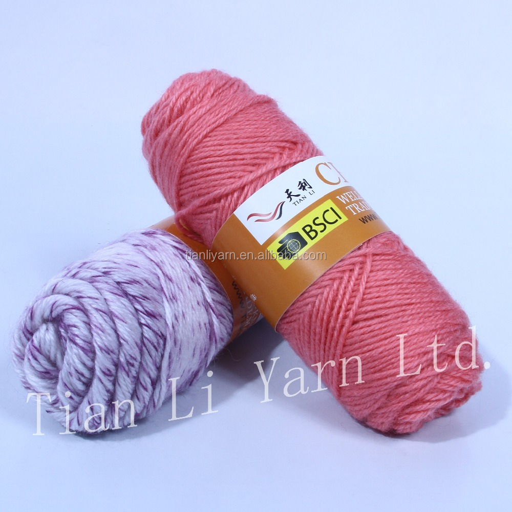 Acrylic Yarn : ... Yarns,Hand Knitting Yarn,Wool And Acrylic Yarn Product on Alibaba.com