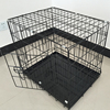 Popular Metal Dog Cage with Double Doors & Plastic Tray