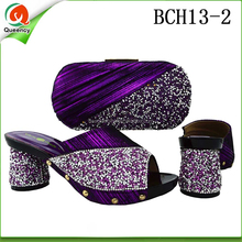 BCH13 Queency Wholesale Italian Designer Leather Clutch Bags ans Matching Dress Shoes for Evening