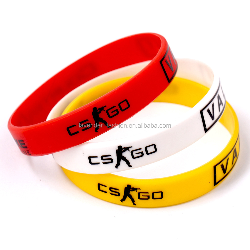 Fashion Sport Bracelet Accessories Wholesale High Quality Custom Debossed Eco Friendly Silicone Bracelet