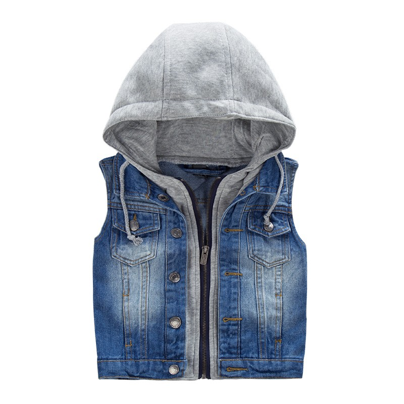 Wholesale Boutique Kid Boys Clothes Custom Denim Vests Of Online Shopping