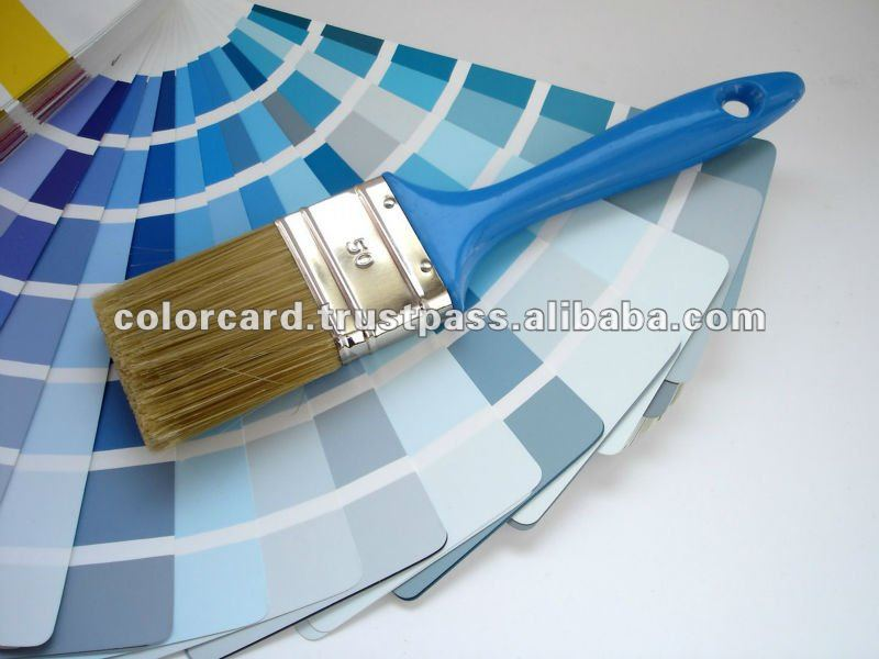 Fandeck color card of pigments