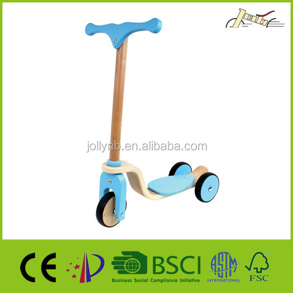 3 Wheels Wooden Balance Scooter For Baby Training