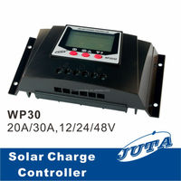 30A 12V/24V Intelligent Solar charge controller with , 30A PWM solar controller, solar energy products,