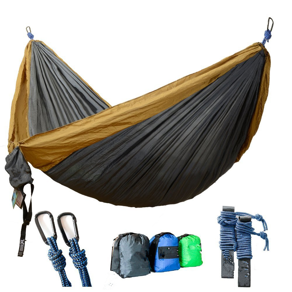 2016 Best Portable Parachute 210T Travel Camping Hammock