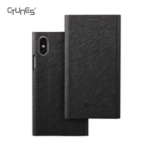 CTUNES Smart Leather Wallet Stand Kickstand Card Holder Magnetic Closure Clear TPU Slim thin Covers Case For iPhoneX