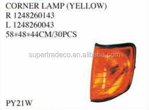 USE FOR BENZ PARTS ( W124/E 1985-1996 )CORNER LAMP(YELLOW) OEM: R 1248260143; L 1248260043