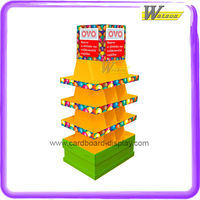 Pallet Floor Cardboard Display Stand for Mobile Accessories