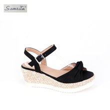 Fashionable competitive price medium womens elegant latest design ladies sandal shoe